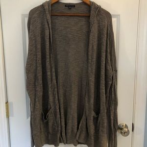 American Eagle Hooded Brown Sweater Cardigan XL